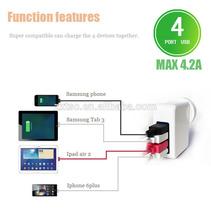 4 port usb power adapter Universal World Plug for iphone/iPad