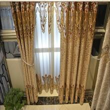 elegant curtain classic village style decoration window curtain