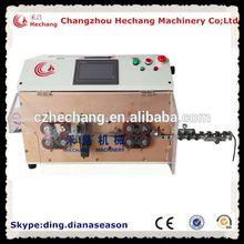HC-608z double flat sheath dual flat wire cut and strip machine el wire stripping machine