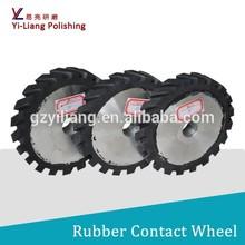 steel metal button sanding belt rubber coated aluminum lapping wheel