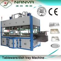 Disposable paper fruit plate tableware production line