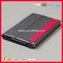 2015 Stylish Design Flip Leather Case for iPad Mini 3, Leather Smart Cover Case for Retina iPad Mini