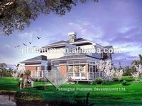 Luxury european villa house steel frame prefab european style villa