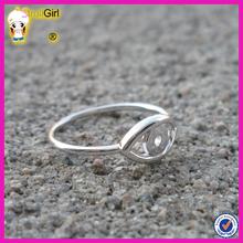 Turkey evil eye wholesale silver jewelry ring hand of fatima hamsa ring evil eye rings