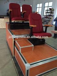 Telescopic tribune gym bleachers soft seats sample