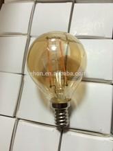 China wholesale Golden color G45 E14 led filament bulb E12 led bulb 110V christmas light