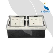 saipwell de calidad superior de aluminio multifuncional receptáculo de suelo