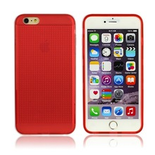 Flexible TPU Apple for iPhone 6 plus Case , Rose Color Clear Frost Smart Phone Case Cover