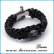 Wholesale cheap custom team logo paracord bracelet