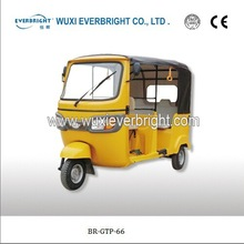 electric tricycle gasoline tricycle for passenger and cargo tricycle rickshaw with electric car design