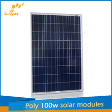 100 poly solar panel with polycrystalline silicon solar cell price