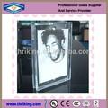 Modificado para requisitos particulares ultra claro de doble cara cristal marco de fotos