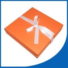 Handmade Orange Color Paper Big Lots Jewelry Box