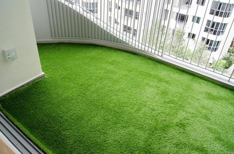 Artificial grass decoration crafts for balcony garden lawn for Balcony artificial grass