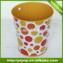 Dot design Flower Planter Decor Metal Wholesale Garden Pot