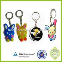 high quality Fashion Promotional gifts 3d soft pvc key chain