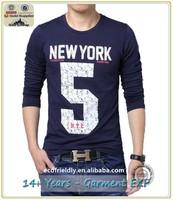 2015 Premium cotton plain Casual Men T Shirt, Printing Fashion Design T-shirt Men Long Sleeve Autumn Wear Tee Shirt