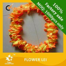 cheap various color plastic flower lei