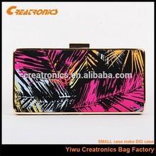 2015 fashion woman wallet ,clutch purse metal frame