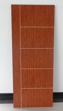 Firm and durable PVC profile wood door