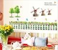 ( n348) l estilo country, moinhodevento adesivo de parede para a decoração do quarto