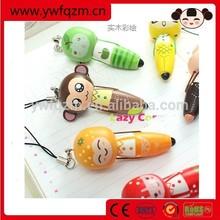 promotional wooden cute cheap funny ball pen
