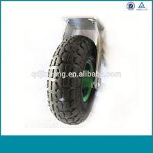Alibaba China Heavy Duty Fixed Industrial Soft Rubber Caster Wheel