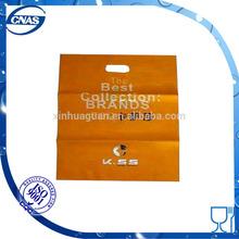 2015 High quality orange color bag in die cut type