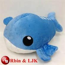 Design personalizzato oem! Balena blu di peluche blu balena giocattolo farcito