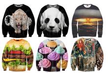 2014 all over print custom design 3D sweatshirt hoodies