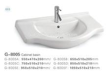G-8005 sanitary ware public bathroom vanity sinks