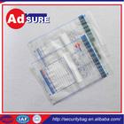 plastic bag security seal/Clear Security Bags/packaging bag security tamper
