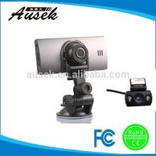 dual camera lens rear view, car video camera recorder with gps, full hd 1080p car recorder