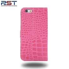 PU crocodile skin leather cover for Apple iphone6 with soft interior lining to help protect your screen from dust and scratches