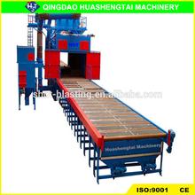 Q69 roller pass through shot blasting machinery/machine cleaning heels