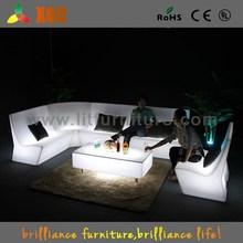 led light up outdoor furniture / lighting PE lounge sofa set / Nightclub sofas