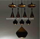 Modern aluminum beat black and white pendant lighting