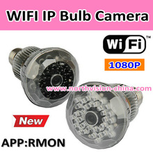 WIFI light bulb camera with tf slot, motion detection,1080P HD