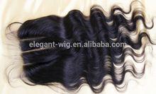 Elegant-wig High quality virgin human hair piece 3 part silk base lace closure