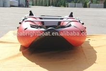 Hot sale 12' to 14' inflatable plastic canoe kayak
