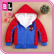 Europe and America Hot Selling New Design Spiderman Boys Clothing Winter Thick Lamb Pure Cotton Outwear ZZJ-SP-6