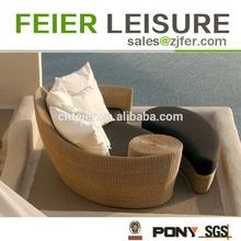 elegant durable round beds rattan set