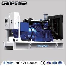 206kva tipo aberto de água na atmosfera com ímã permanente lombardini gerador diesel