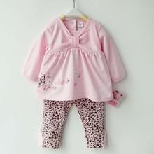 Cheap custom printed newborn baby cotton girl clothes