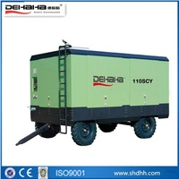 mining application110kw Portable diesel engine screw compressor