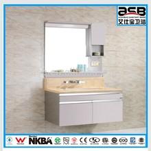2015 nice design Stainless Steel bathroom cabinet on top sanitary