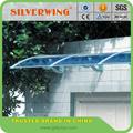 Bricolage transparente porte tentes de la canopée auvent patio couvert avec support en plastique auvent