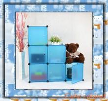 Últimas azul 6 cubos del juguete del cabrito garaje organizador FH-AL0023-6