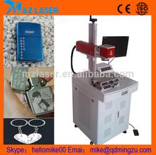 China Symbol Barcode Marking Machine Outside Ring Ear Tag Printing Cheap Optical Fiber Laser Engraving Machine Price