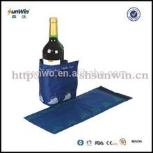 bottle gel wine cooler wrap with steel handle no vibration
